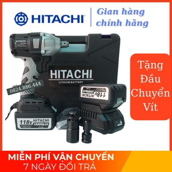 Máy Siết bulong Hitachi 118v - 2 PIN - Đầu 2 trong 1 - KHÔNG CHỔI THAN - TẶNG 1 ĐẦU CHUYỂN VÍT