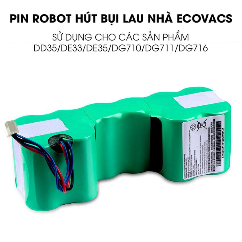 Pin robot hút bụi lau nhà Ecovacs DD35 dùng cho các mẫu robot Ecovacs DD35/DE33/DE35/DG710/DG711/DG716 - BẢO HÀNH 6 THÁNG