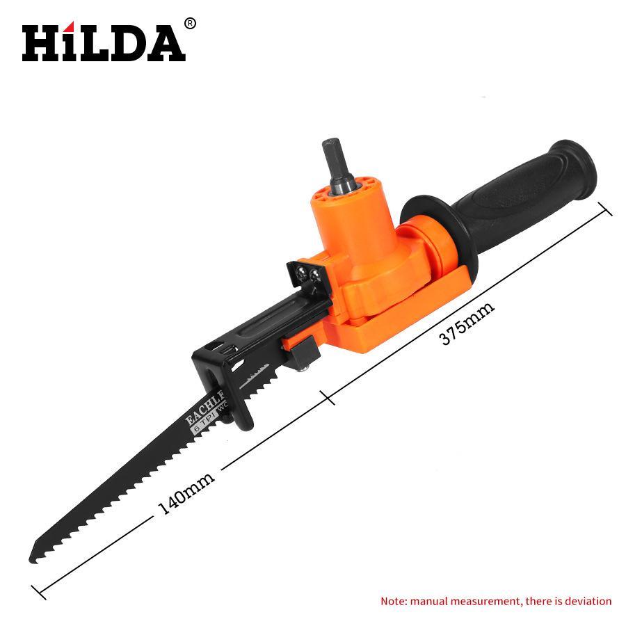 Bộ phụ kiện chuyển khoan tay thành cưa gỗ, cưa sắt + 02 lưỡi cưa gỗ + 01 lưỡi cưa sắt