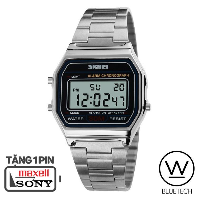 Đồng hồ Unisex SKMEI 1123 Điện Tử - Màu Bạc bán chạy
