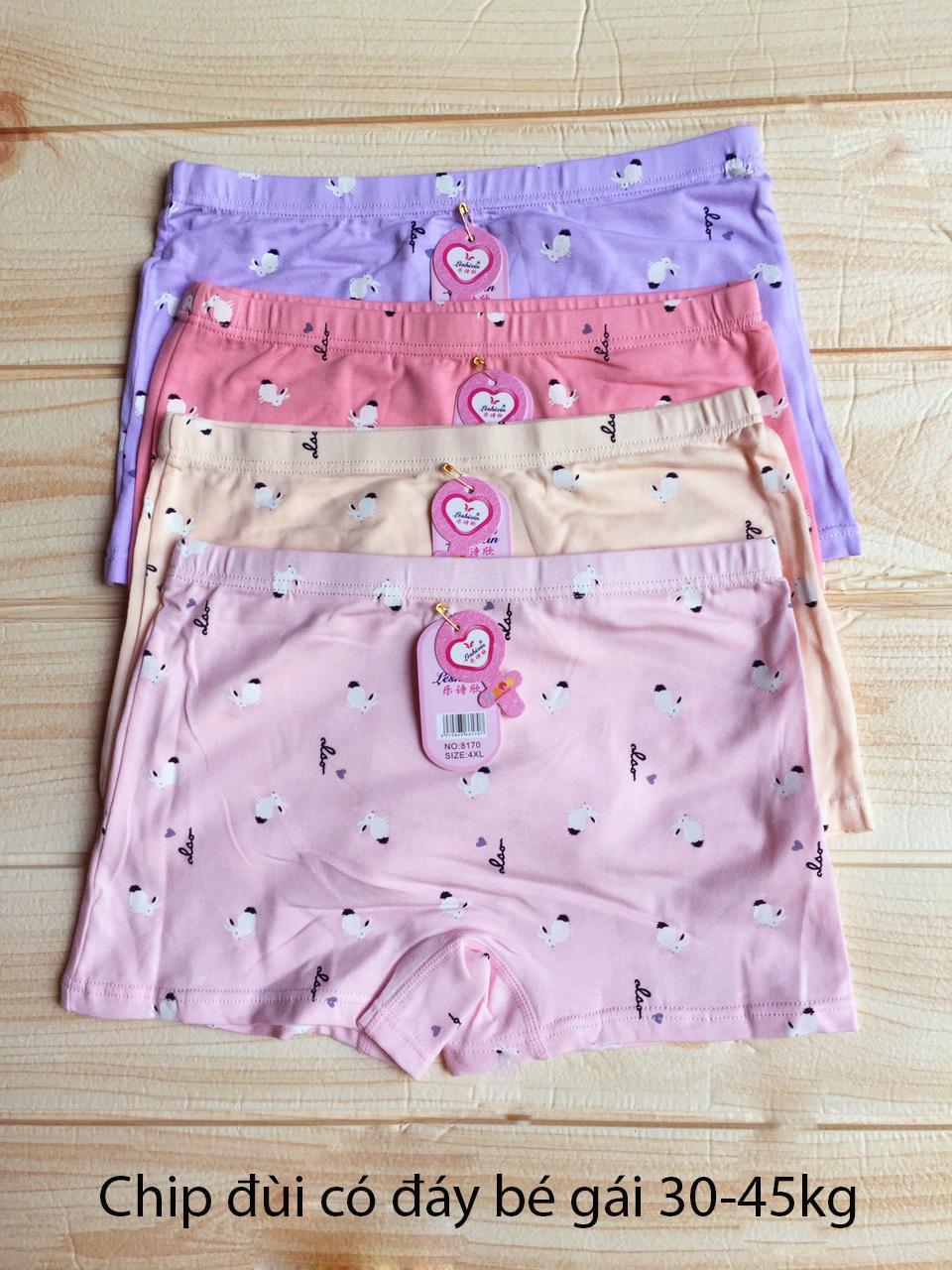 Giá bán Quần lót bé gái 30-45 kg - Combo 4 quần chip đùi có đáy