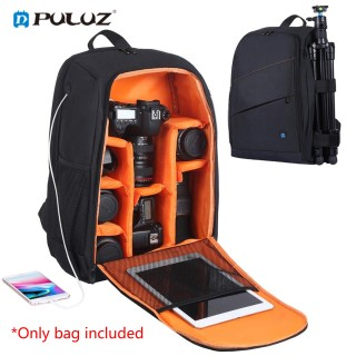 PULUZ Outdoor Backpack Portable Waterproof Bag Scratch-proof Dual Shoulders Backpack for DSLR Camera, Sports Camera, Tripod and Other Photography Accessories Grey thumbnail