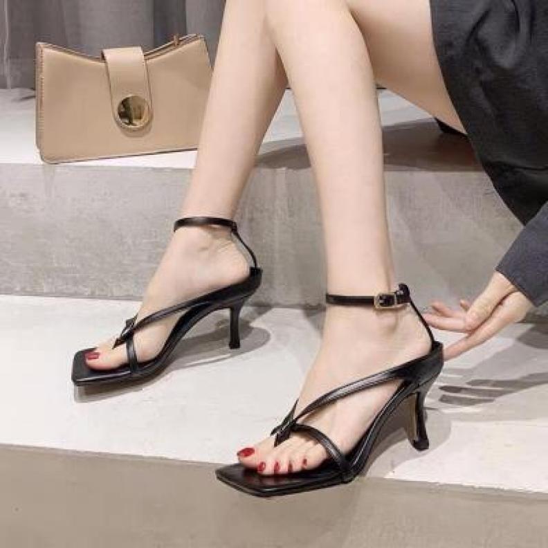 Dép cao gót nữ 5p học sinh - Sandal kẹp dây mảnh đan chéo - CG-0413 giá rẻ