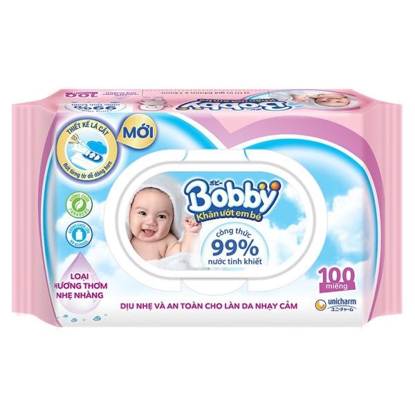 Khăn Ướt Bobby 100 miếng - hàng chính hãng