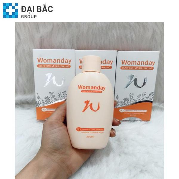 Dung dịch vệ sinh phụ nữ WOMANDAY bảo vệ dịu nhẹ - chai 250ml - Đã được kiểm chứng bởi Bộ Y Tế