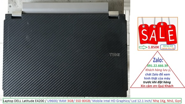 Bảng giá Laptop DELL Latitude E4200 / U9600/ RAM 3GB/ SSD 80GB/ Mobile Intel HD Graphics/ Lcd 12.1 inch/ Nhẹ 1Kg, Nhỏ, Gọn Phong Vũ