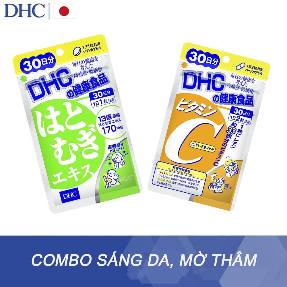 Combo Viên Uống Trắng Da - Mờ Thâm DHC Adlay Extract (30v) cao cấp