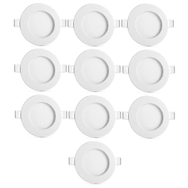 Bộ 10 đèn led âm trần 9W 3 màu 3 chế độ