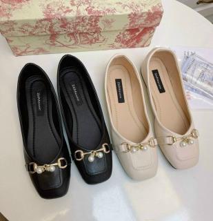 Giày búp bê nữ phối khóa ngọc chất đẹp êm chân thumbnail