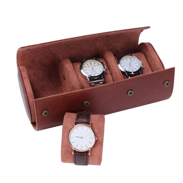 Giá bán Watch Storage Case/3 Slots PU Leather Watch Organizer Box for Travel/Business/Trip