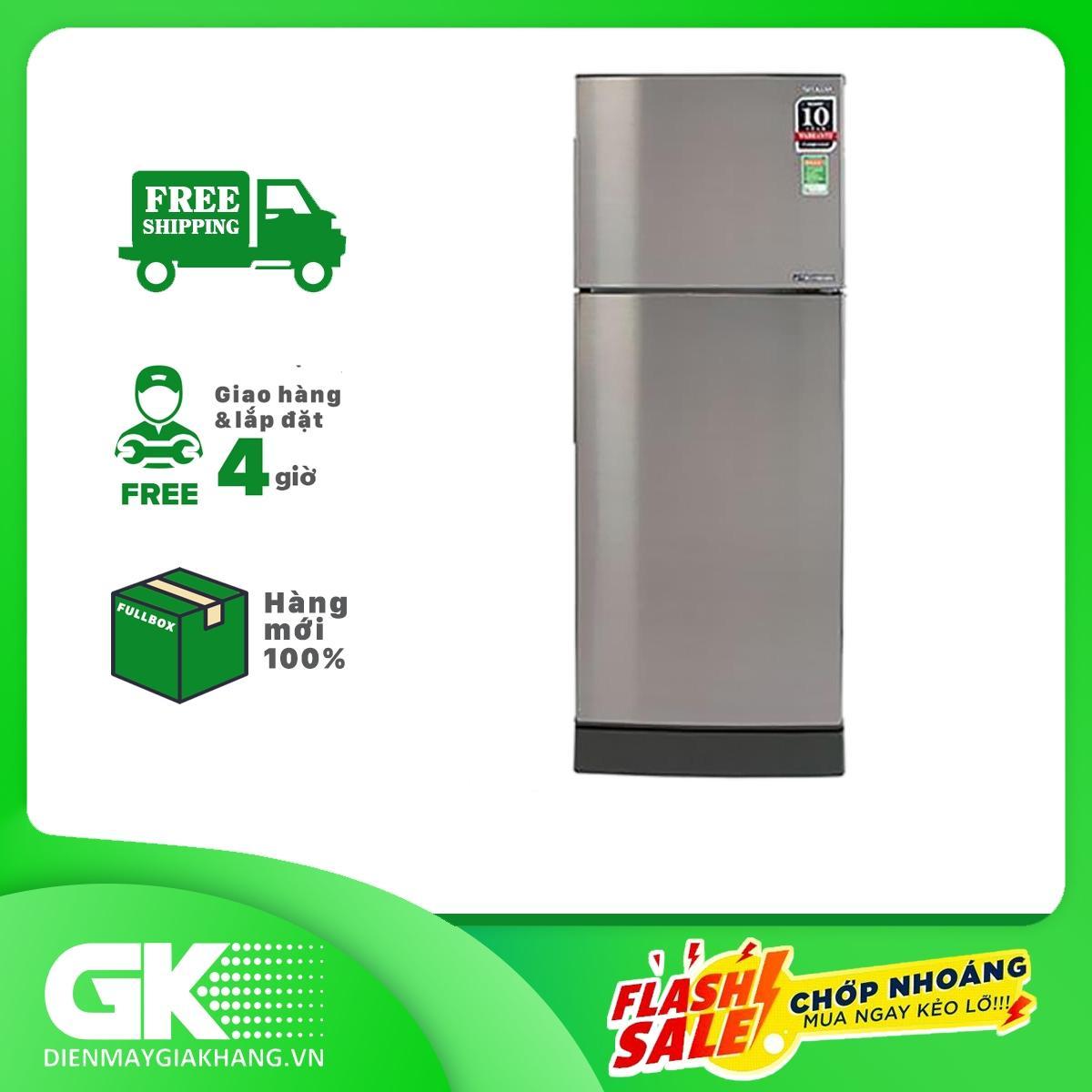 Tủ Lạnh Sharp SJ-X251E-SL, 241 Lít, Inverter Bất Ngờ Giảm Giá