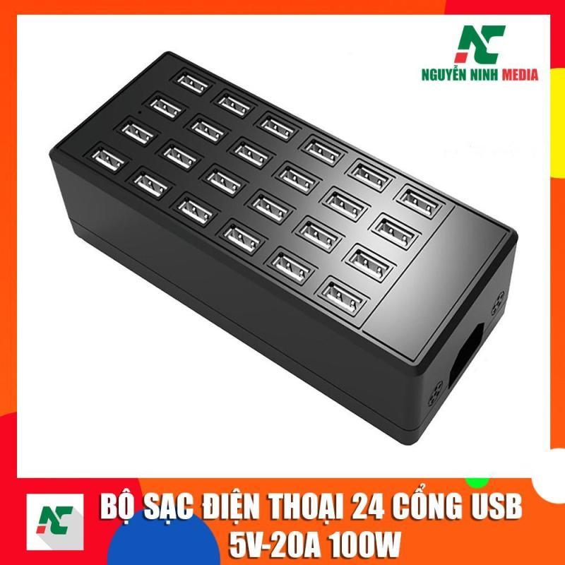 Bảng giá Bộ sạc điện thoại 24 cổng USB 5V-20A 100W Hỗ trợ sạc nhiều thiết bị cùng lúc Phong Vũ