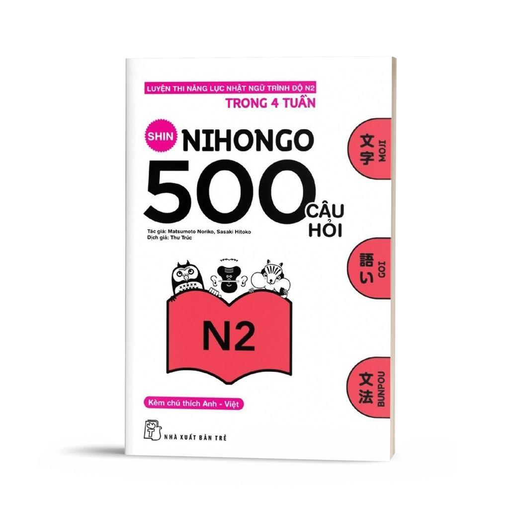 Coupon Ưu Đãi Sách Shin Nihongo 500 Câu Hỏi N2