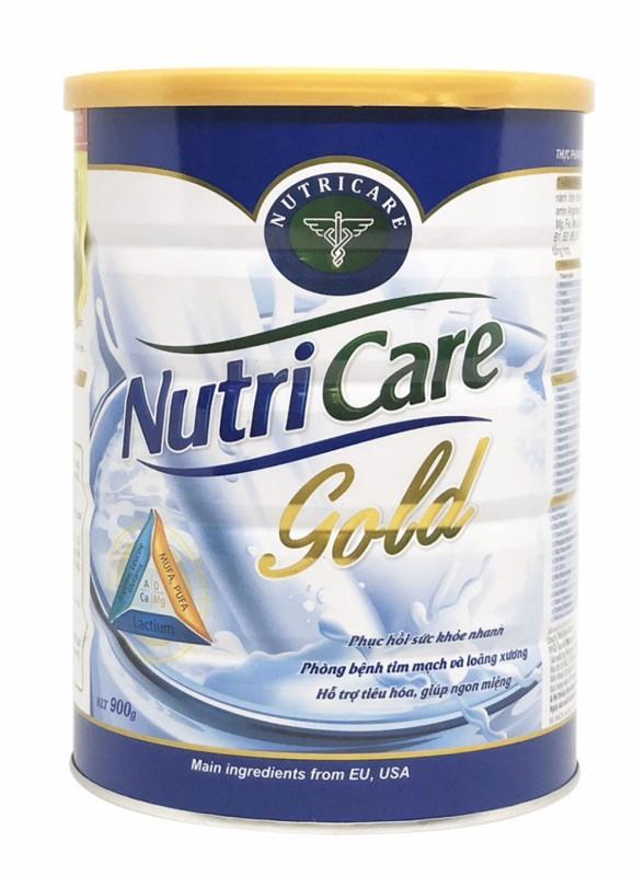 Sữa bột Nutricare Gold - dinh dưỡng phục hồi bồi bổ sức khoẻ giúp giảm căng thẳng mệt mỏi và tăng cường hoạt động trí não (900g)
