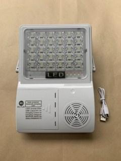 Đèn năng lượng mặt trời XKJ-TL20 20w có loa kết nối bluetooth sáng trắng thumbnail
