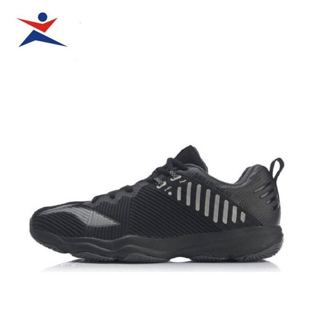 Giày cầu lông nam, giày thể thao Li-Ning AYTP031-1 cao cấp thiết kế chuẩn form bàn chân Việt dành cho nam màu đen đủ size giá rẻ
