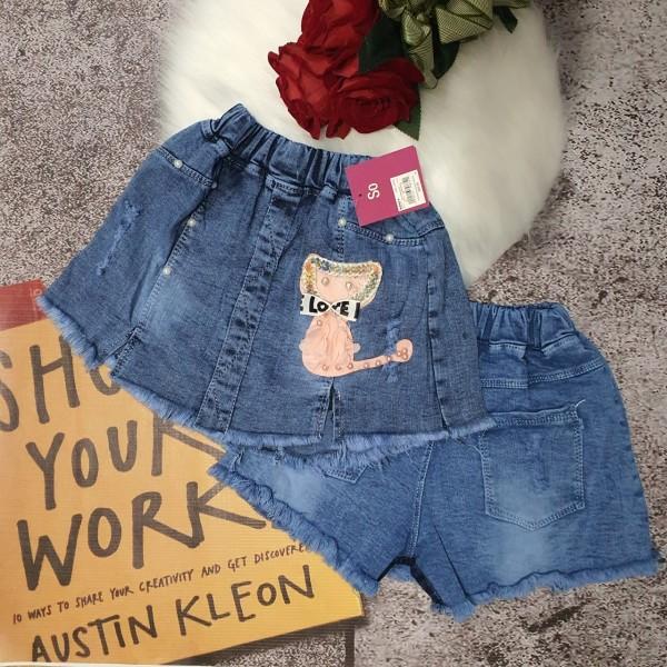 Giá bán Quần jeans giả váy siêu xinh cho bé gái