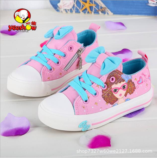 Giày thể thao bata bé gái nơ xinh từ 3 - 12 tuổi giá rẻ