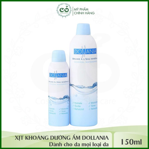 Xịt khoáng dưỡng ẩm cấp nước cho da Dollania
