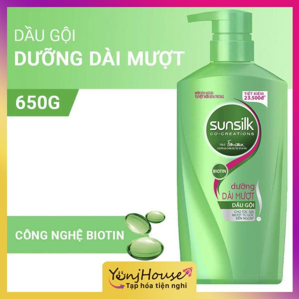 Dầu gội xanh lá Sunsilk dưỡng tóc dài mượt 650g - YenjHouse giá rẻ