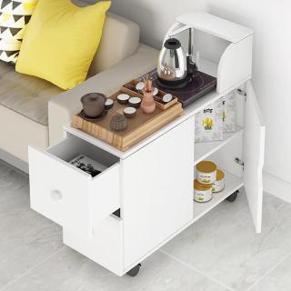 Tủ bếp. bàn trà hai tầng một ngăn kéo có bánh xe (Hồ Chí Minh vận chuyển) thumbnail