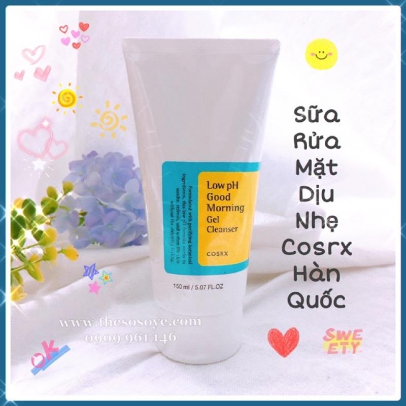 Sữa rửa mặt dịu nhẹ Cosrx Low PH Good Morning Gel Cleanser Hàn 150ml, cam kết sản phẩm đúng mô tả, chất lượng đảm bảo giá rẻ
