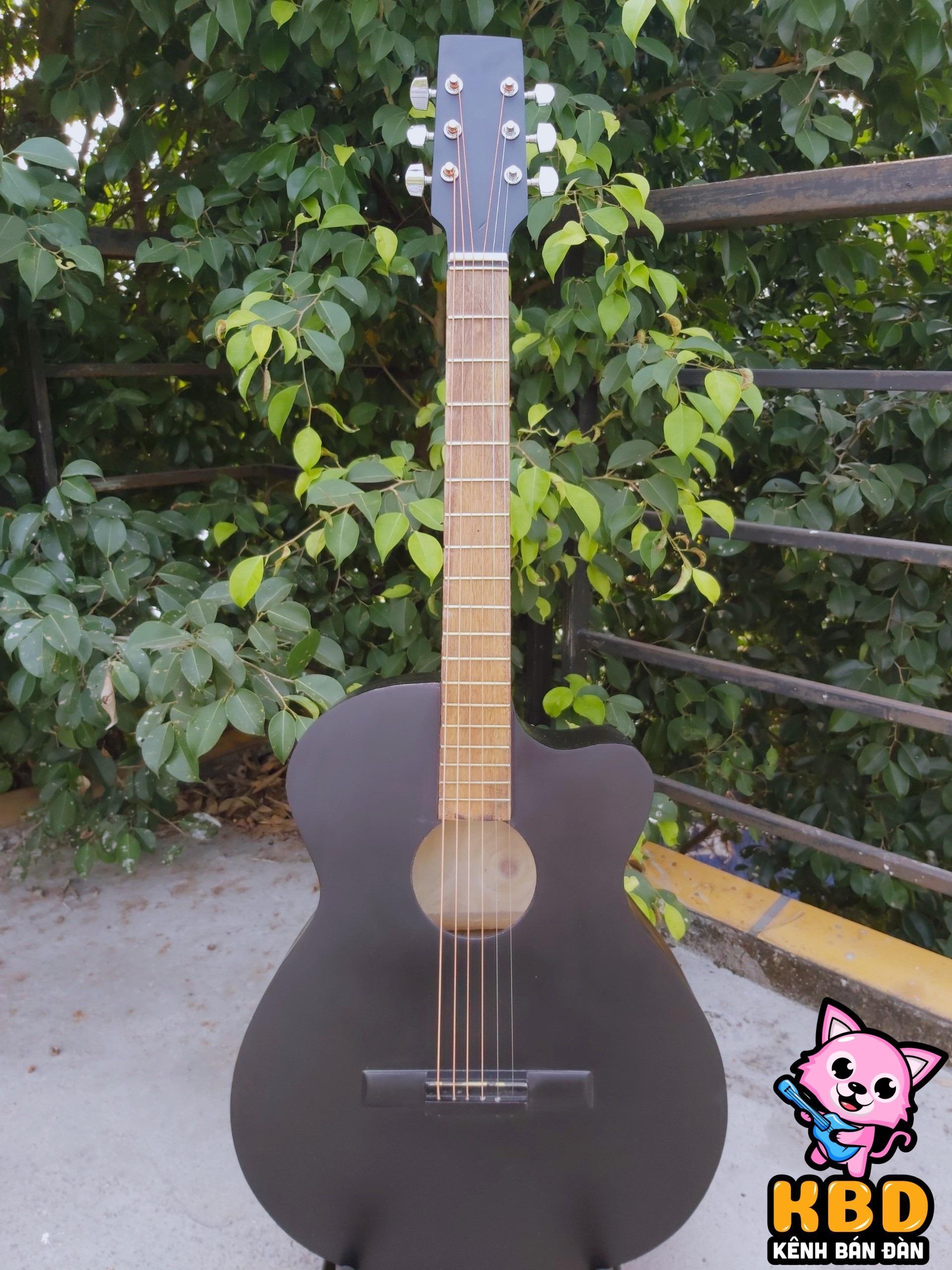 [TẶNG KHÓA HỌC ĐÀN] Đàn guitar Đen Nhám HAK1 + tặng kèm bao đàn 1 lớp + capo + pick và dây 1
