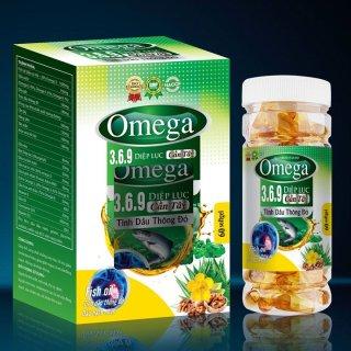 Viên Uống Omega 3-6-9 Diệp Lục - Cần Tây- Tinh Dầu Thông Đỏ, Dầu Hạnh Nhân - Giảm Cholesterol Máu, Bổ Não, Sáng Mắt, Khỏe TIm Mạch-Hộp 60 Viên thumbnail
