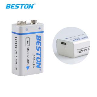 Pin sạc Lithium 9V 650mAh cổng USB Boston - Pin micro, đồng hồ đo điện, máy nghe nhạc, đèn pin, cổng sạc trực tiếp thumbnail