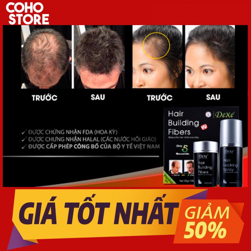 Chống hói/ Make up che hói/ Làm dày tóc  trong 5 giây Dexe ( 1 hộp gồm 2 chai 22g và 100ml)
