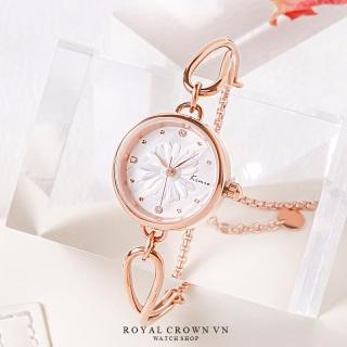 Đồng hồ nữ 6463 đính đá nền hoa cúc thiết kế cực xinh (Bảo hành 12 tháng + Tặng kèm pin) thumbnail