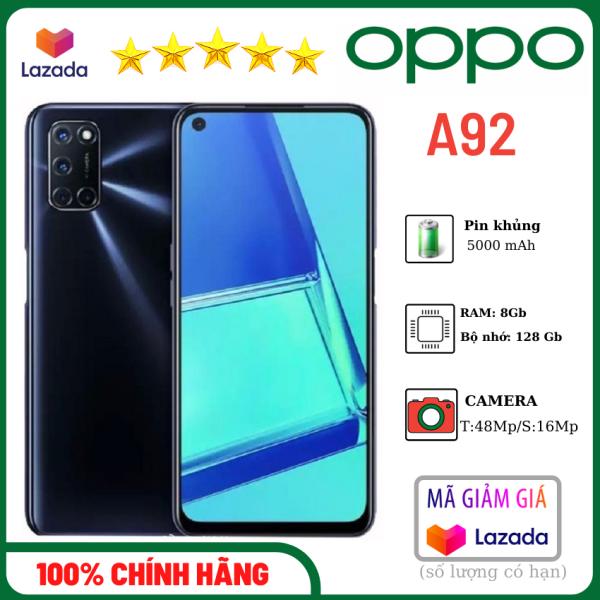 Oppo A92 (Ram 8 Rom 128), camera sau 48 Mp- Pin 5000mAh, có sạc nhanh-Oppo giá rẻ-sản phẩm chính hãng