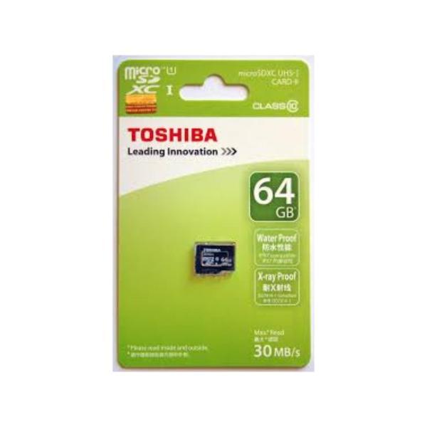 Thẻ nhớ MicroSD Toshiba 64G Box Class10 Công ty (Xanh)