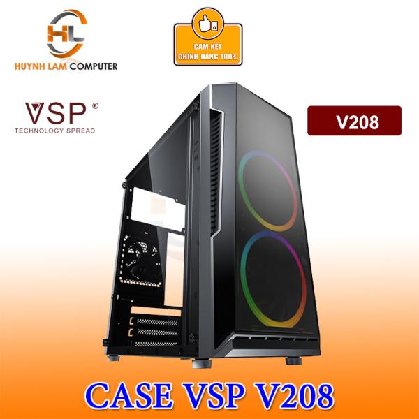 Bảng giá Thùng máy tính Case VSP V208 Gaming mặt hông mica Phong Vũ