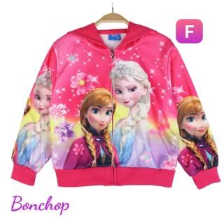 Áo khoác bé gái hình Elsa và Anna xinh xắn từ 9-40kg - Thun da cá hút mồ hôi- Hình in 3D sắc sảo- Hương Nhiên thumbnail