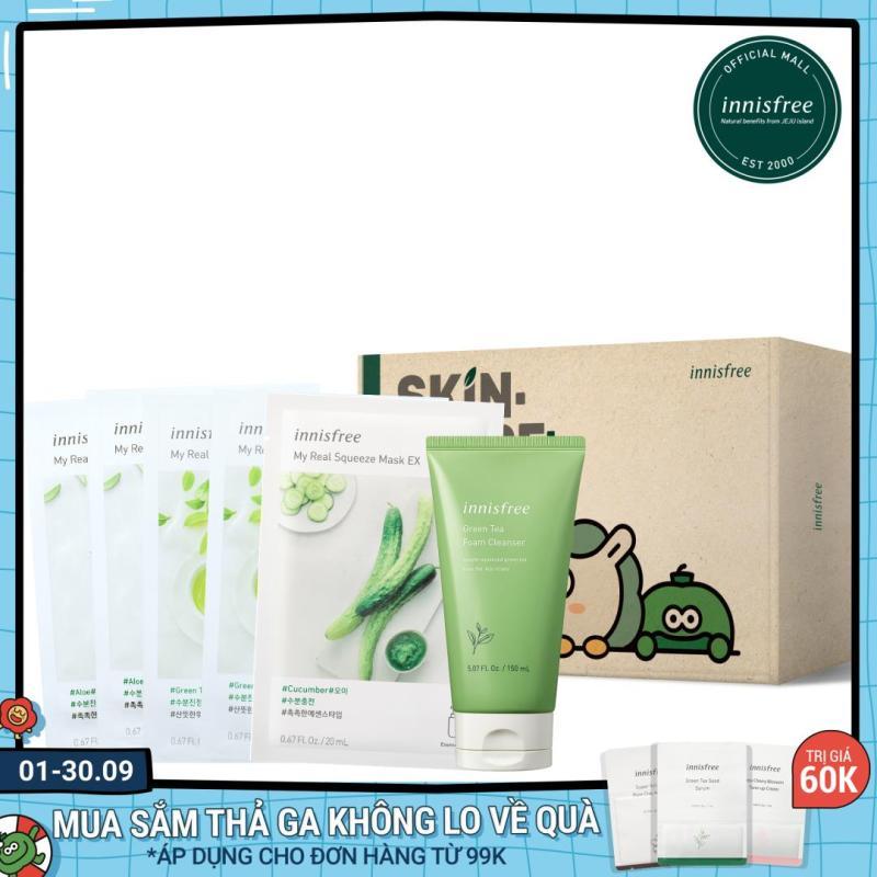 Bộ sản phẩm chăm sóc dưỡng ẩm innisfree Green Tea Set giá rẻ