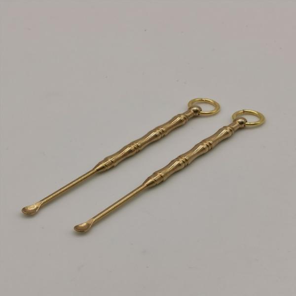 Dụng cụ lấy ráy tai an toàn tiện lợi chất liệu đồng thau nguyên chất có móc treo chìa khóa