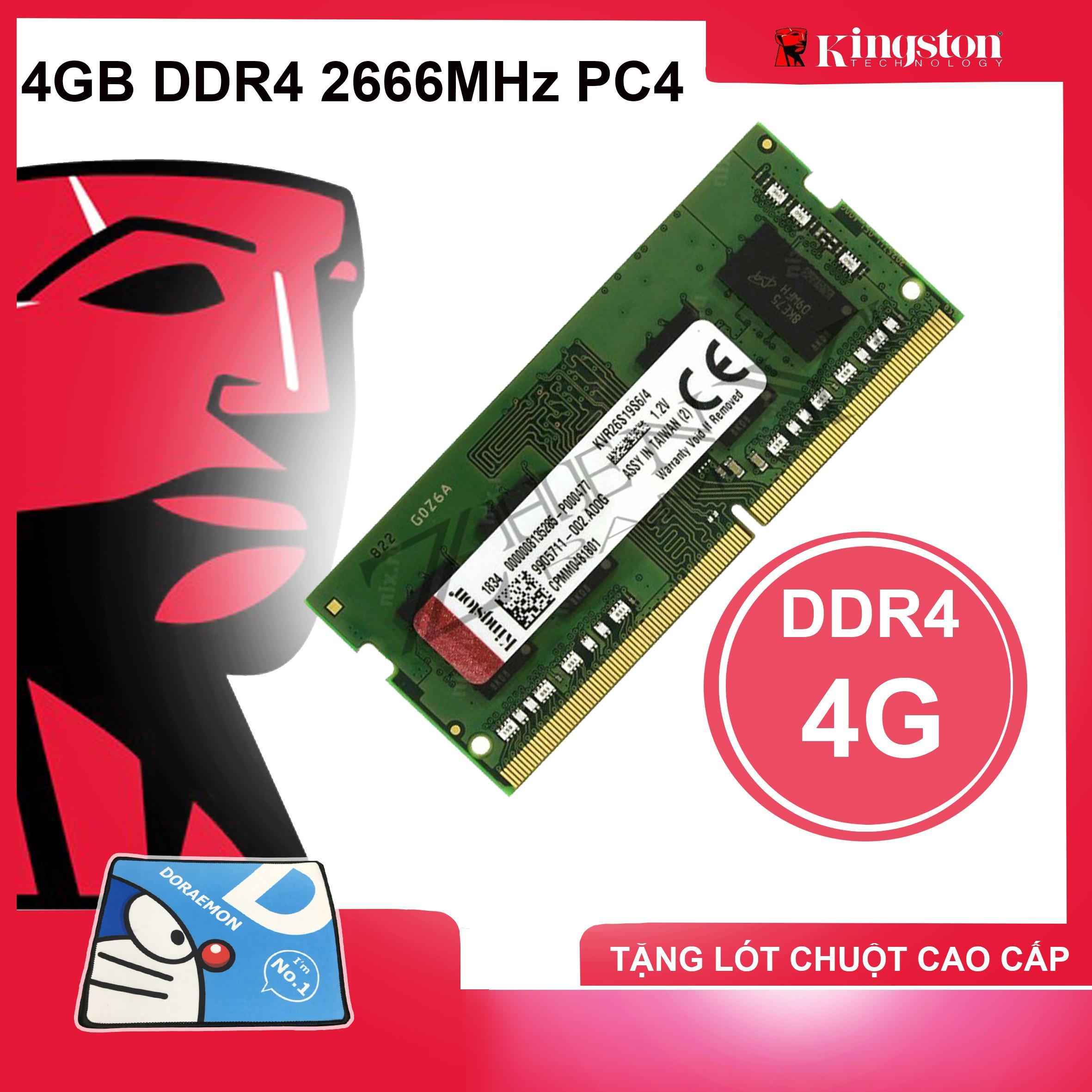 Ram Laptop Kingston 4GB DDR4 2666MHz PC4 Dùng Cho Macbook Bảo Hành 36 Tháng 1 Đổi 1