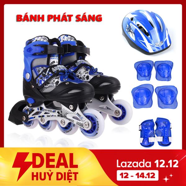 Giá bán Bộ Giày Patin Longfeng  đầy đủ bảo hộ chân tay và mũ chính hãng tặng kèm hộp vàn bộ ốc vít