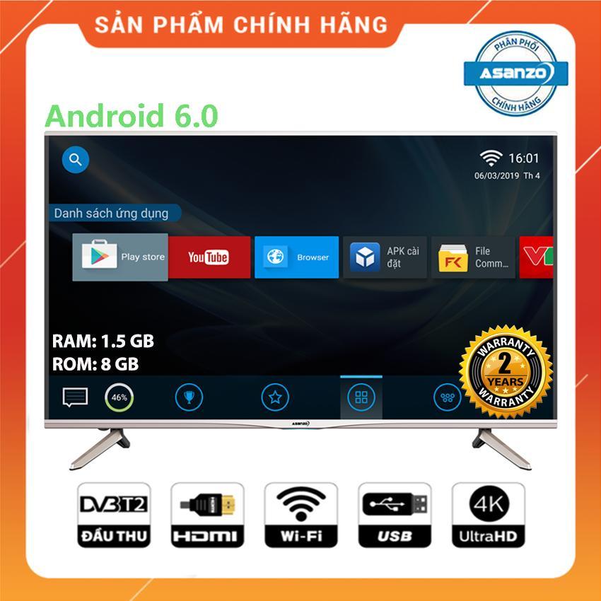 Bảng giá Smart Tivi Asanzo 50 inch Ultra HD 4K Voice Search - Model 50X9 (NEW 2019) Tìm kiếm bằng giọng nói, Tích hợp DVB-T2, Wifi