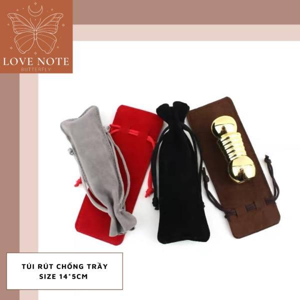[HCM]Túi rút vải nhung đựng son chống trầy kích thước 14x5 cm