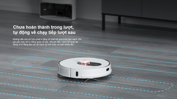 Robot hút bụi Xiaomi Roidmi Eve Plus với hộp đựng bụi tự động đổ rác kết hợp sạc thông minh, sử dụng App Mi Home.