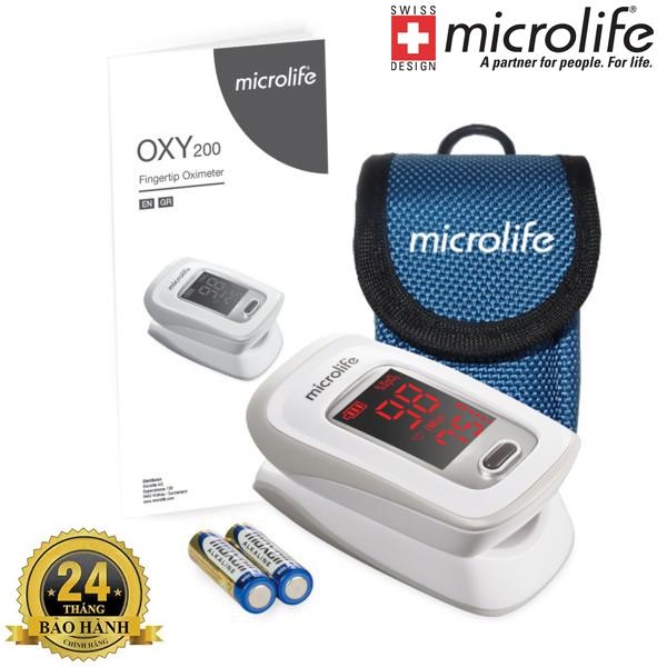 Máy đo nồng độ oxy trong máu và nhịp tim Microlife SpO2 OXY200 | Hàng Chính Hãng Bảo Hành 2 Năm