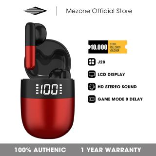 Tai nghe không dây bluetooth hiển thị màn hình LCD kèm mic, chống nước, khử tiếng ồn, thời gian nghe nhạc 36 giờ Mezone dành cho Realme Huawei Samsung Xiaomi Vivo Oppo Ios thumbnail
