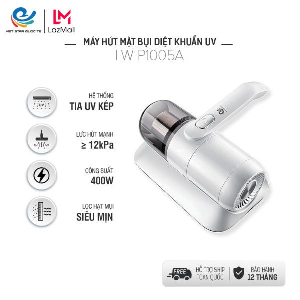Máy hút bụi giường nệm cầm tay mini LW-P1005A  0.5L - Công suất mạnh mẽ- Đèn tia UV hút sạch bụi bẩn- Bộ lọc bằng thép - Bảo hành 12 tháng