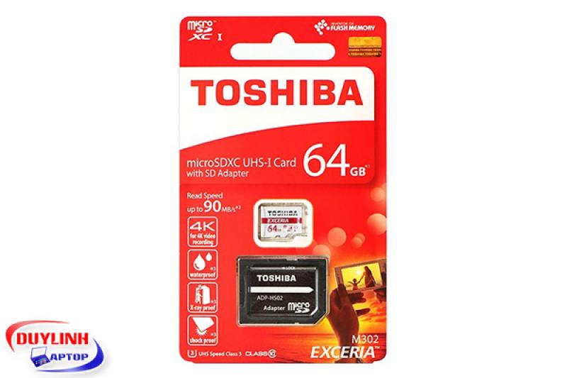 THẺ NHỚ 64GB TOSHIBA LUU TRỮ DỮ LIỆU CAMERA WIFI