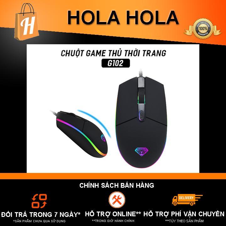 Chuột game thủ Divipad G102 Led RGB DPI 2400
