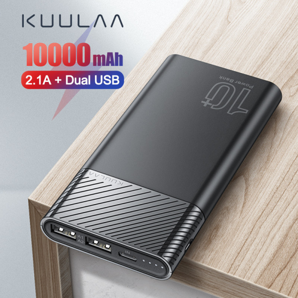 Giá KUULAA Power Bank 10000mAh PowerBank Sạc di động Poverbank 10000 mAh Bộ sạc ngoài USB cho Xiaomi Mi 10 Huawei Dành cho iPhone 11/11 pro cho iphone 11 pro max oppo f11 pro redmi note 9s iphone xr samsung galaxy s10 plus
