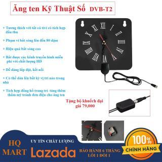 Ăng-ten TV kỹ thuật số trong nhà tích hợp đồng hồ,ăng ten truyền hình miễn phí cho TV kỹ thuật số DVB-T2 Trong nhà, ăng-ten chính trong suốt với các kênh 480p-1080p Cắm và phát , tivi thumbnail