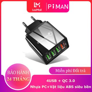 Piman Củ Sạc Nhanh Chuẩn Quick Charge 3.0 18W - Củ sạc tích hợp mọi loại thiết bị và điện thoại thumbnail